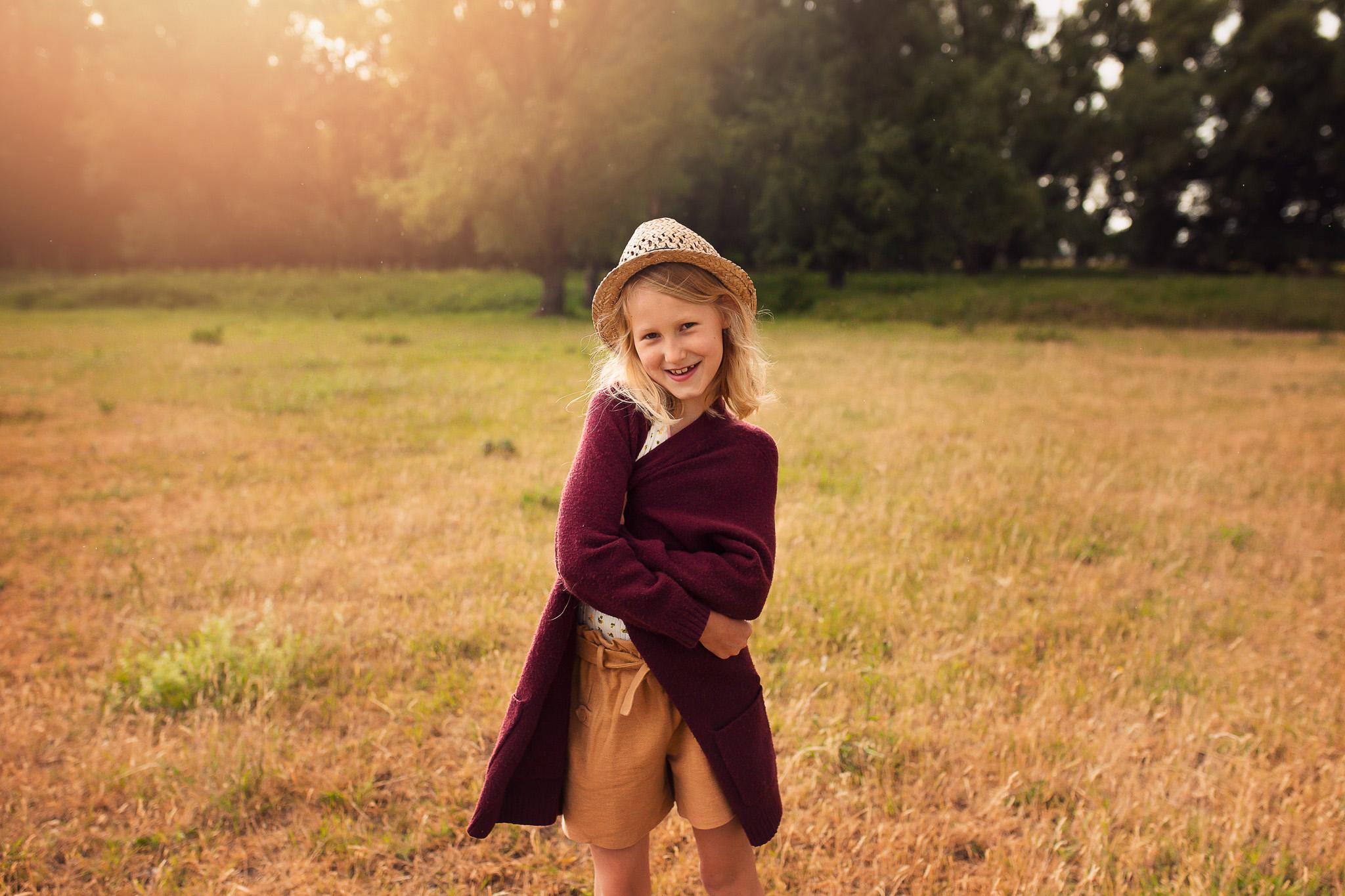 Golden hour fotoshoot meisje