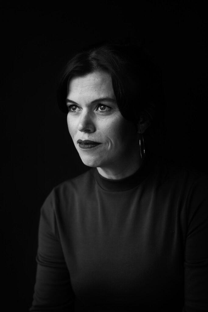 Een fineart zwartwit portret